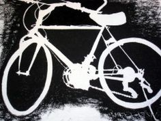 negative space drawing - bicycle