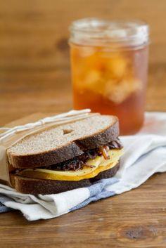 Butternut Squash and Balsamic Onion Sandwich | Naturally Ella