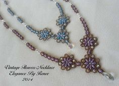 Vintage Flowers Necklace - Instant Download PDF