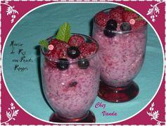 Riz au lait vanill et son coulis de fruit rouge comida for Comida francesa df
