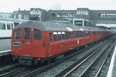 London Transport 1938 Tube Stock 10155 . Wembley Park Station . 24th-November-1978