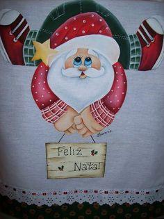 Pano de Prato Papai Noel