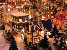 A little Christmas town. Christmas Village Display, Christmas Town, Christmas Villages, Christmas Music, Little Christmas, Christmas Traditions, Winter Christmas, Merry Christmas, Christmas Carnival