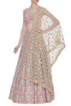 Buy Silk Lehenga Set by Tamanna Punjabi Kapoor at Aza Fashions Indian Bridal Lehenga, Indian Bridal Outfits, Indian Gowns, Indian Attire, Dress Indian Style, Indian Fashion Dresses, Indian Designer Outfits, Fashion Outfits, Lehnga Dress