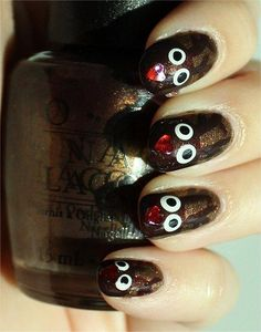 Nail Art Tutorial: Reindeer Nails (Rudolph Nails)