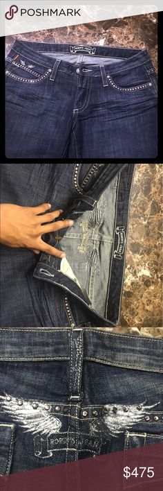 Robin Jeans Black Denim (Boot Cut) size 30 Long Robin Jeans pants size 30 Black Denim, most recent designs but outdated... looks nice though, just very long Jeans robin jeans Jeans Boot Cut