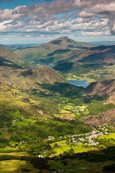 Beddgelert, Gwynedd, Wales. Only in Wales can a valley be so beautiful!