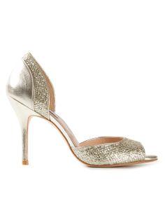 Women - Shoes - Lucy Choi 'Zinnia' Glitter Finish Sandal - Bernard Boutique