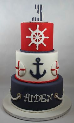 Best ideas for baby boy birthday cake blue nautical theme Nautical Birthday Cakes, Baby Boy Birthday Cake, Nautical Cake, Nautical Theme, Nautical Baby Shower Cakes, Cake Baby, Baby Showers Marinero, Navy Cakes, Pink Cakes