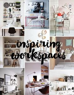 Poppytalk: 9 Inspiring Work Spaces