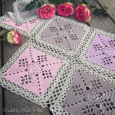 DIY - Victorian Lattice Square o my variant of Lace Join | BautaWitch