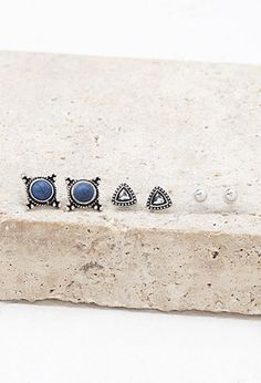 Etched Faux Stone Stud Set | Forever 21 | #f21accessorize