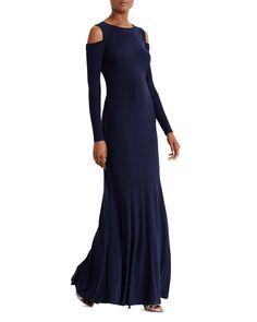 Lauren Ralph Lauren Petites Cold Shoulder Gown