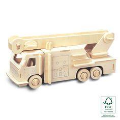 Houten speelgoed voor jongens 7 jaar - brandweer wagen