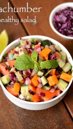 Veg Salad Recipes, Spicy Recipes, Cooking Recipes, Indian Dessert Recipes, Healthy Indian Recipes, Chaat Recipe, Biryani Recipe, Kachumber Salad, Vegetarian Snacks