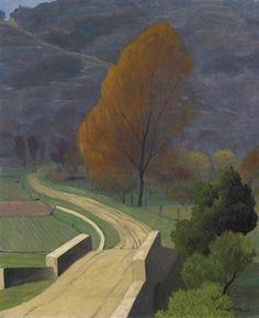 Félix Vallotton (Swiss, 1865-1925), Pont sur le béal, 1922. Oil on canvas, 73 x 60 cm.