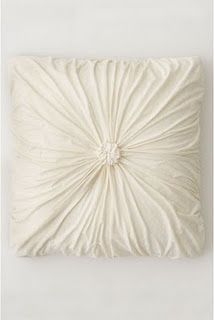 """""""How to"""" Anthropologie pillow. Choice of fabric will make the difference."""