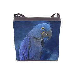 Hyacinth Macaw Crossbody Bag. FREE Shipping. #artsadd #bags #parrots