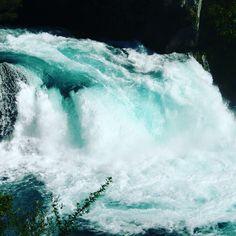 A Huka Falls fica pertinho da Cidade de Taupo, na Nova Zelândia. Com águas extremamente cristalinas (e azuis) é a atração mais visitada e fotografada do país! Porque será? #hukafalls #laketaupo #nz #newzealand #kiwipics #capturenz #travelforever www.travelforever.com.br