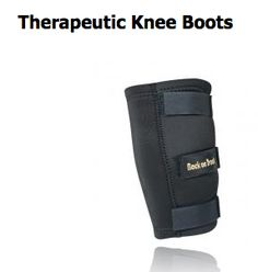 Relieve and Heal Injured Muscles, Joints, and Tendons with our Contoured Horse Knee Boots Our Knee Boots are ideal for injury recovery or prevention in the tough to wrap knee area.   http://www.backontrackproducts.com/Horse-Products/Horse-Knee-Hock-Bell-Boots/Therapeutic-Knee-Boots-p297.html