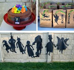 Shadows for decoration  Peter Pan Party