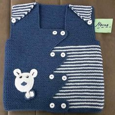 Modern Baby Boy Vest section of information related to. Baby Knitting Patterns, Knitting Blogs, Vogue Knitting, Knitting For Kids, Crochet For Kids, Knitting Designs, Knitting Socks, Baby Patterns, Crochet Baby