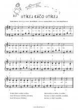 Utíkej Káčo utíkej (Run, Káča, run!)   Noty pro klavír a akordeon
