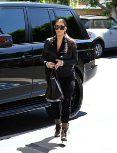 Kim Kardashian, Kanye West, Mariah Carey Among Celebrities Out and About - Rolling Out Kim Kardashian Kanye West, Kardashian Photos, Kris Jenner, Car Girls, Mariah Carey, Range Rover, Winter Jackets, Celebrities, June 24