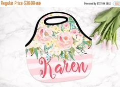 ON SALE NOW - 20% off Christmas Gift, Monogrammed Lunch Bag, Personalized Lunch Tote by SassySouthernGals on Etsy https://www.etsy.com/listing/244581730/on-sale-now-20-off-christmas-gift