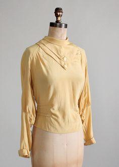 Vintage 1930s Art Deco Silk Blouse