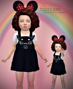 Jenni Sims: Toddlers Minnie Mouse Ears • Sims 4 Downloads