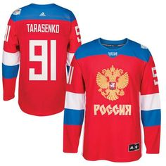 Team Russia #91 Vladimir Tarasenko Red 2016 World Cup Stitched NHL Jersey