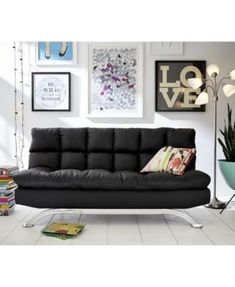 grayson faux leather futon quick ship   brown moonlight faux leather 9 inch chair size futon mattress  brown      rh   pinterest