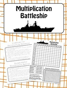 Multiplication Battleship The favorite family game has been altered to be played so that kids can practice their multiplication fact fluency! These sheets can be printed and laminated for permanent use.