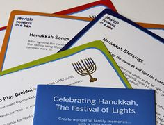 New! #Hanukkah Parent Pak. Easy-to-use cheat sheets + fun activity ideas. Durable for years of helpful holiday reminders and how tos. Free shipping with #AmazonPrime. http://jewishholidaysinabox.com/jewish-holiday-traditions/how-to-celebrate-hanukkah/hanukkah-parent-pak-11-99/
