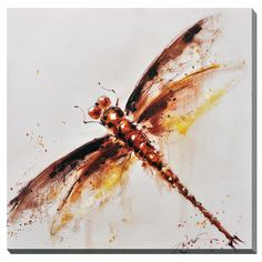 Porthos Home Dragonfly Canvas Print Wall Art