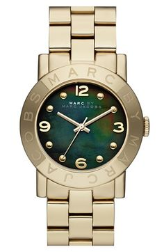 MARC BY MARC JACOBS 'Amy' Mother-of-Pearl Dial Watch, 37mm