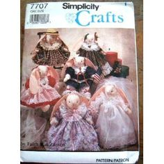 Simplicity 7707 Crafts Sewing Pattern Bunny with Seasonal Clothing