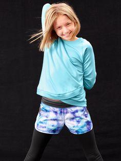 e0c842d409f56 Record Breaker Short Printer + Criss Cross Sweatshirt   Athleta Girl Sport  Girl, Criss Cross