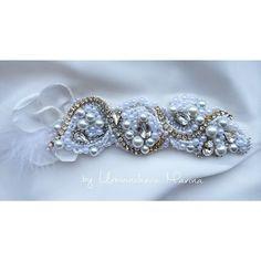 Повязка для невесты из иск.жемчуга, чешского бисера и кристаллов Swarovski 💎💎💎