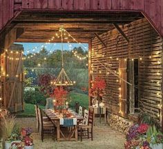 Patio; I like stringing lights on the back patio.  A fun and practical idea for year round.