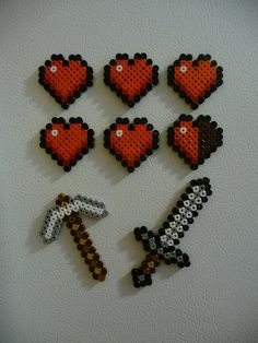 Life Heart and Tool Magnet Set Combo Minecraft by mistermostaccio, $10.00