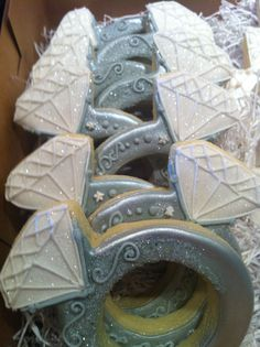 Wedding Ring Cookies by Willow Tree Cookies