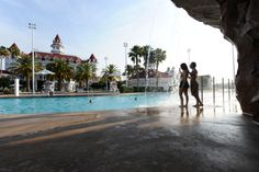 Disney Resort Hotels, Disney's Grand Floridian Resort & Spa - Guests At The Pool, Walt Disney World Resort