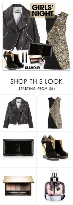 """""""Girls nigh out!"""" by euafyl ❤ liked on Polyvore featuring Acne Studios, Rachel Gilbert, Yves Saint Laurent and Clarins"""