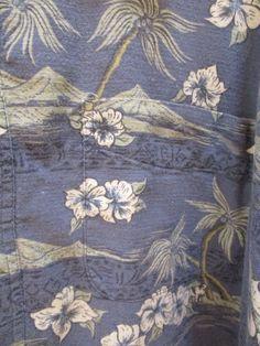 3X Mens Hawaiian Aloha Shirt Hidden Pocket - Big Dogs Short Sleeve Cotton/Rayon #BigDogs #Hawaiian