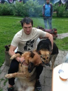 Ovi and his dogs