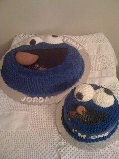 Cookie monster cake and smash cake
