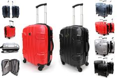 Hard Shell PC 4 Wheel Spinner Suitcase ABS Cabin Travel Luggage Trolley Case