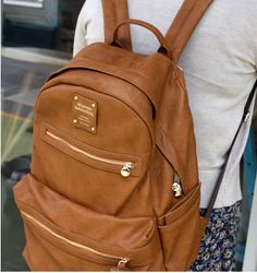 Love this leather backpack